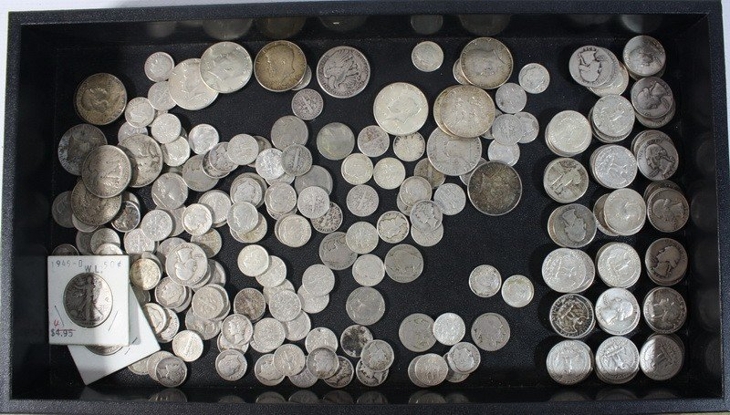 2: $40 Face Value 90% US Silver Coinage with numerous n