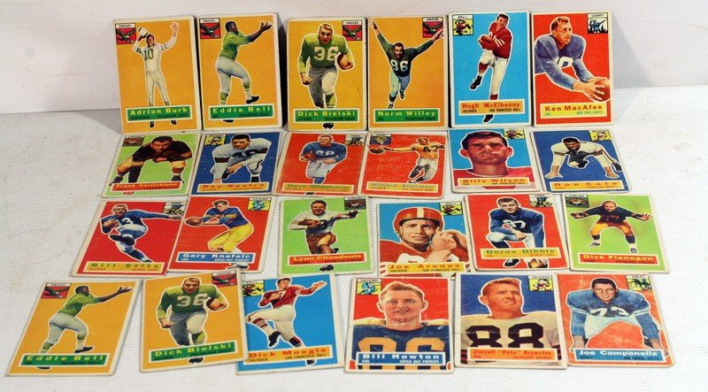 75: 24 1956 Topps Football cards