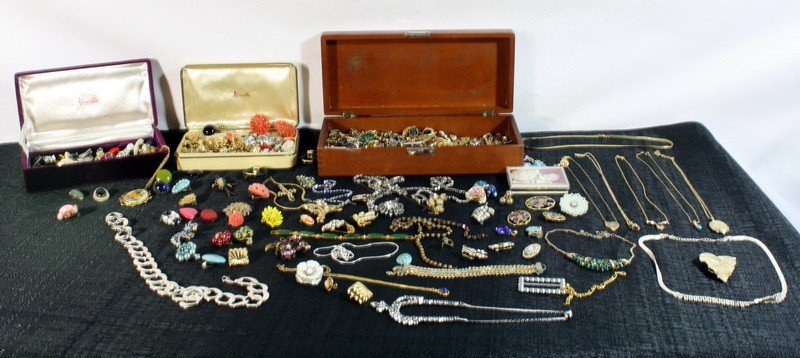 4: 3 Boxes Full w/ Costume Jewelry