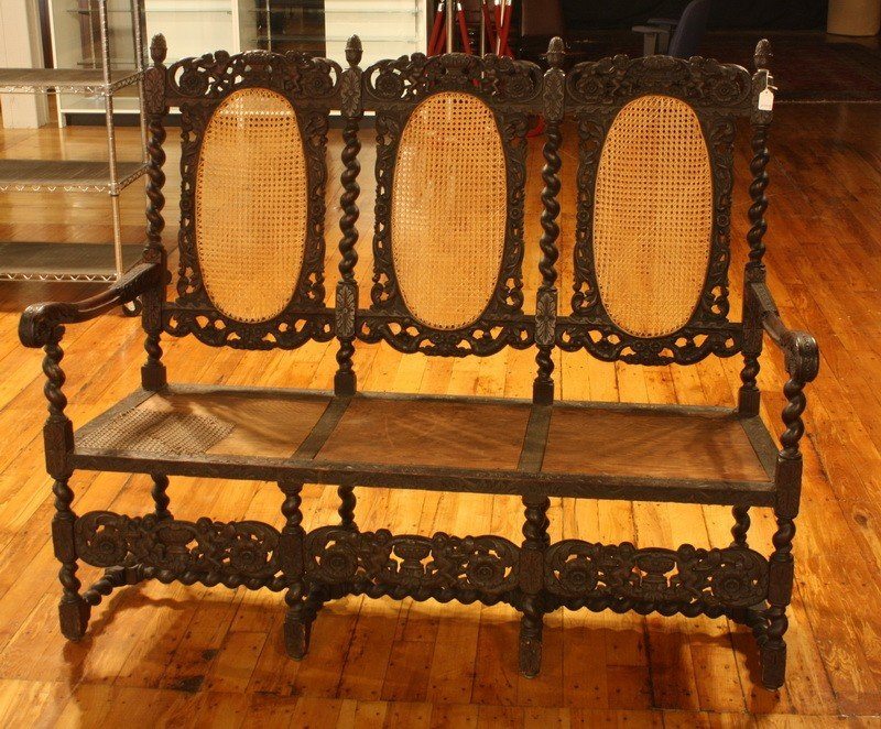 3: Triple Bench Carved Setee