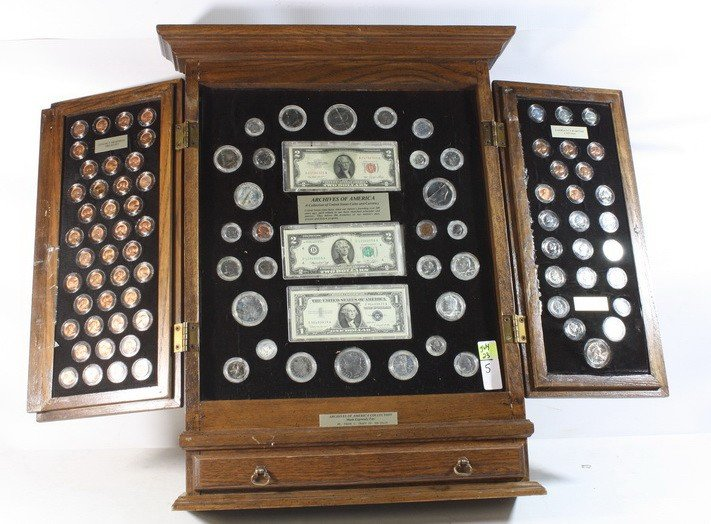 5: Display case of coins and currency