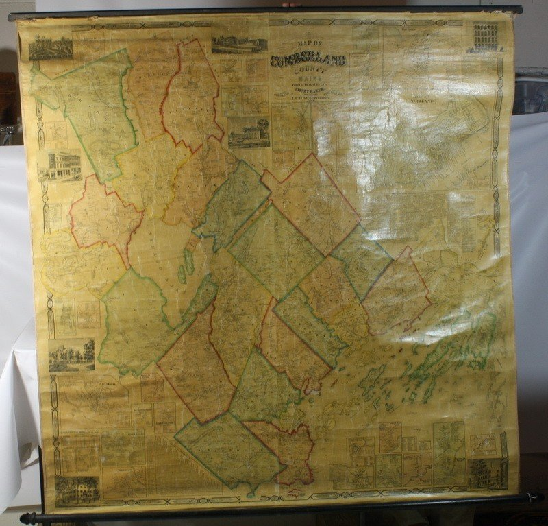 17: 1857 Cumberland County Wall Map