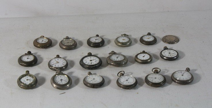 59: Lot of pocket watches and pendant watches