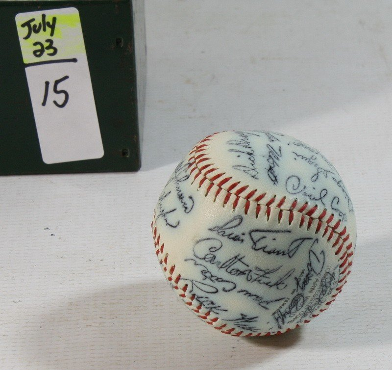 15: 1974 Red Sox Signed Team Ball