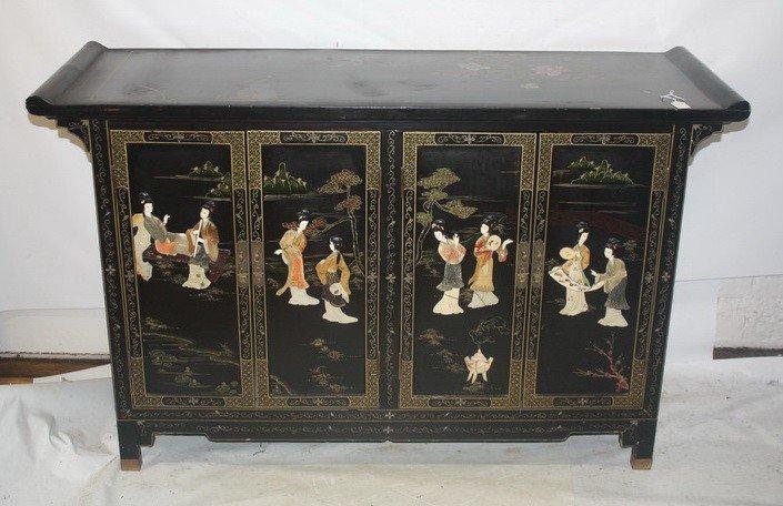 """5: Asian Decorative 47"""" 2 door cabinet"""