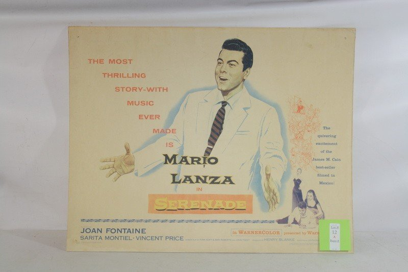 12A: Original Movie Poster of Mario Lanza with Joan Fon