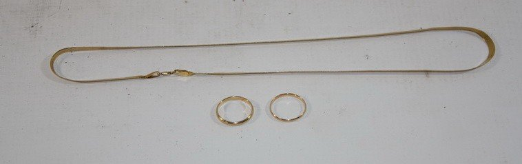 4A: Jewelry lot including 5.78 DWT 14 kt. Gold