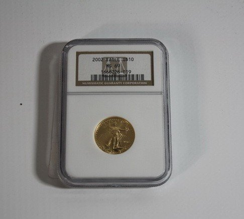 7A: Quarter Ounce Gold Eagle 2002 Graded MS 69