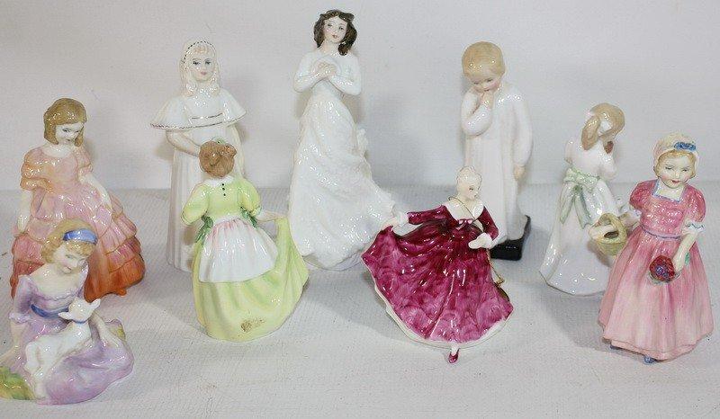 16: 9 Royal Daulton figurines