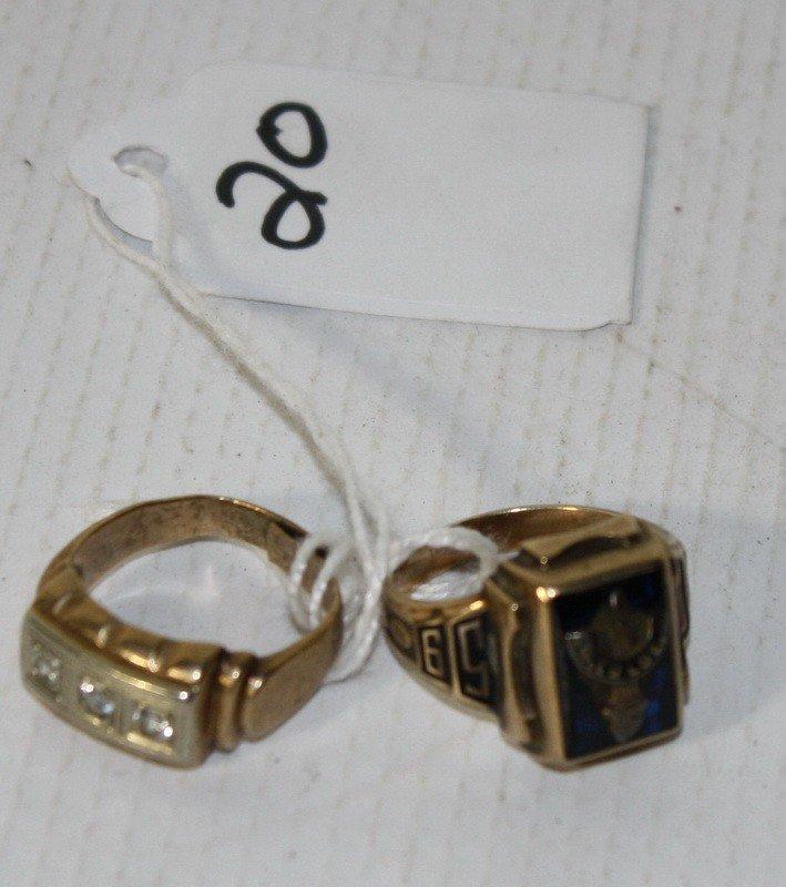 20: 2 10Kt. Gold Rings 9.64 DWT