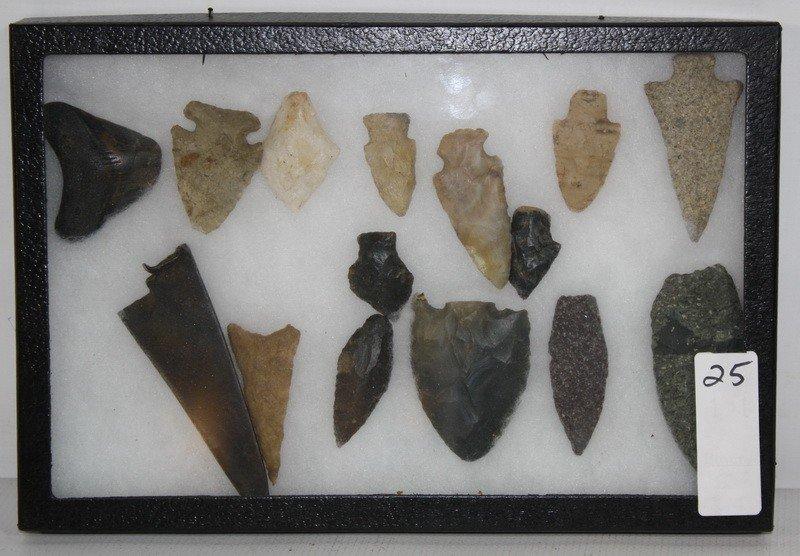 25: Display of Indian Arrowheads