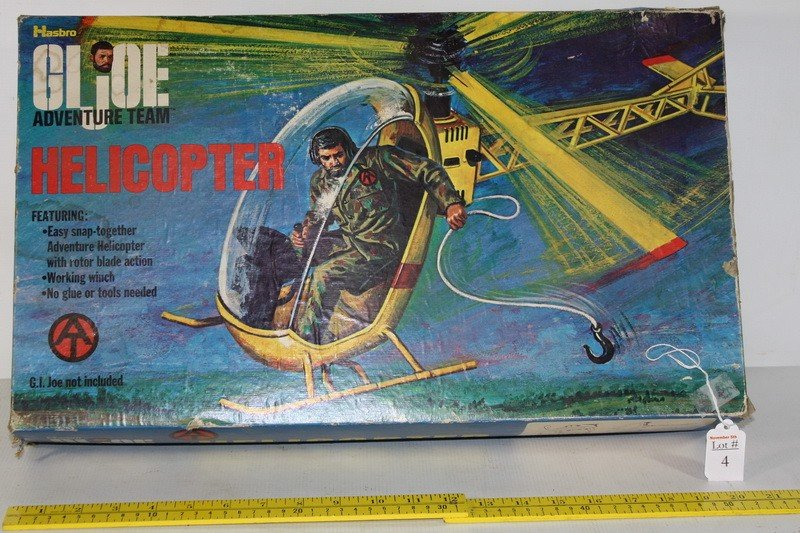 4: GI Joe Adventure Team Helicopter in Org. box by Hasb
