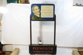 16: 16 Plymouth Rope Cutting Machine advertising piece