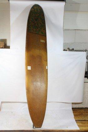 17: 9 Foot Hawaiin Fiberglass surfboard