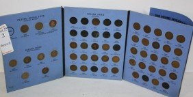 2: Indian Head cent partial book with flying eagles