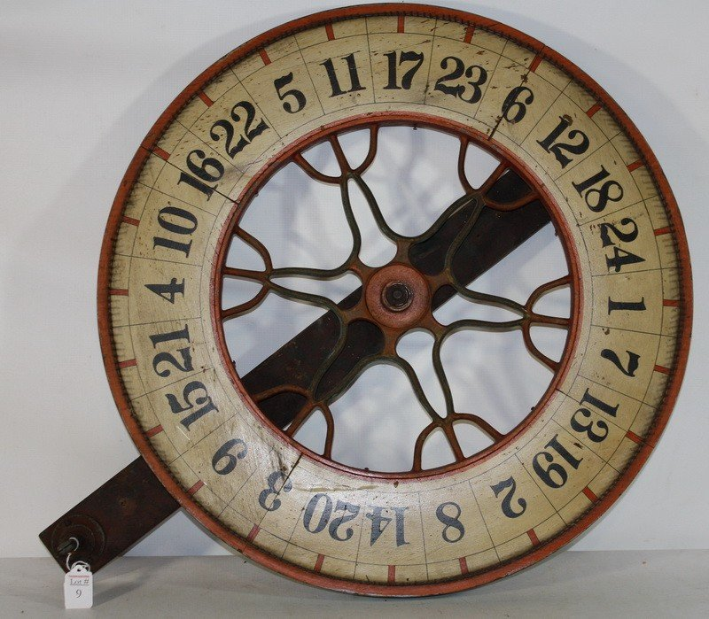 9: Antique gaming wheel