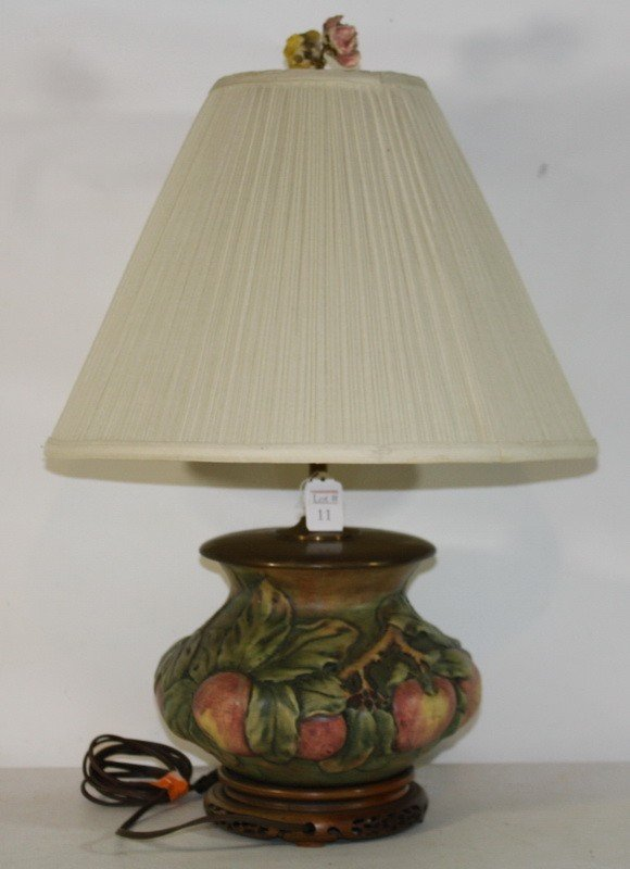 11: Weller Lamp with apple motif