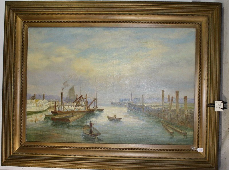 25A: Oil on canvas 38x55 by Charles Frederick Kimball ""