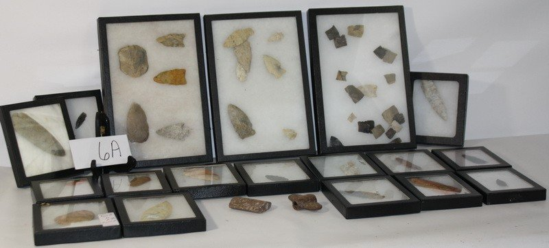6A: Large Collection of Indian arrowheads and artifacts