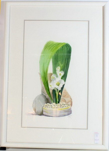 15: Watercolor depicting Lillies by Marion Kumins 24x14