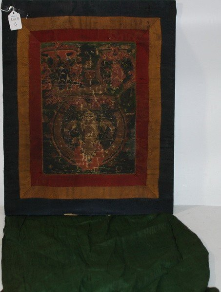 6: Hand Painted on Silk Tibetan Thangkas