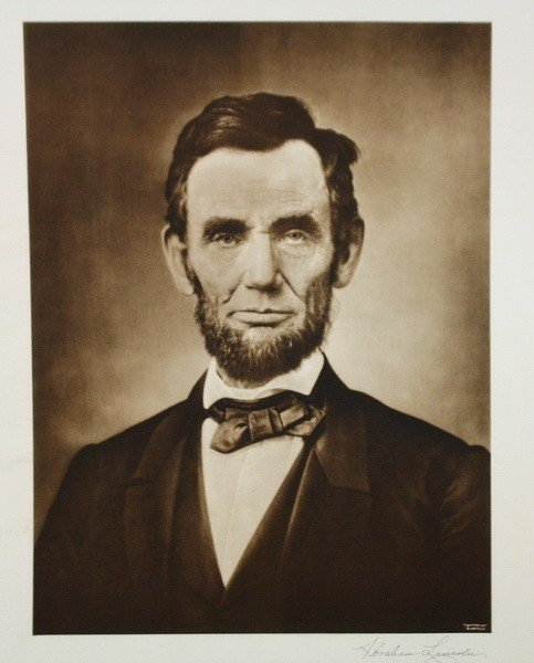 7A: Lot of 10 unframed prints Lincoln, Jesus, Raphael C