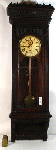 10A: Gilbert Walnut 30 Day Regulator Factory clock from