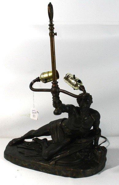 "11: Bradley and Hubbard Centurian  Lamp Base ""Soldart S"