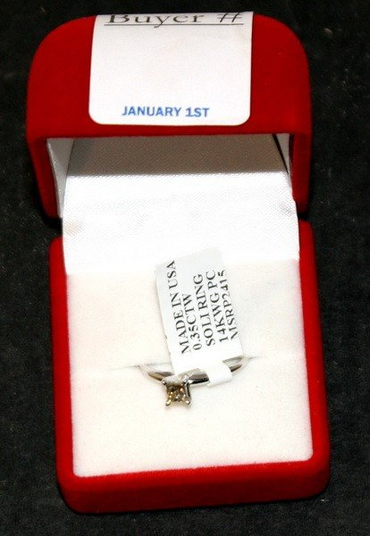 14: .35 Ct. Total Weight Diamond solitaire ring in whit