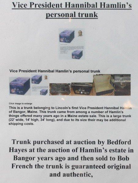 3A: Vice President Hannibal Hamlin's Trunk with Provena - 2