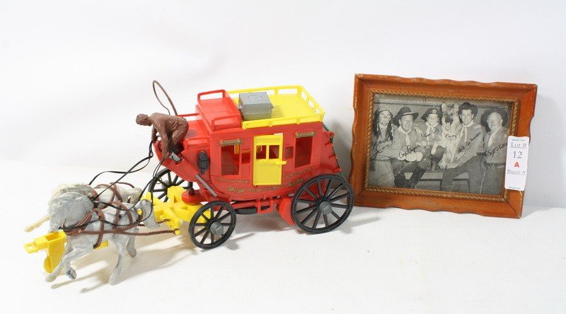 12A: Lot with 1950's Alamo Stagecoach and Rin Tin Tin P