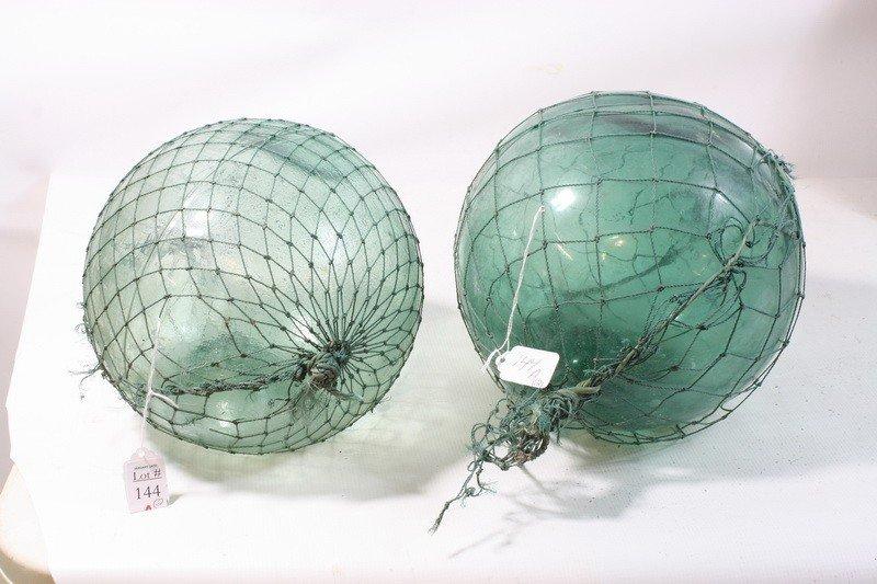 144A: Two Japanese glass fishing balls