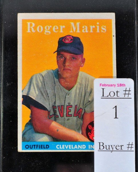 1: 1959 Topps Roger Maris Rookie Card