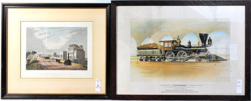 3A: Pair of railroad prints