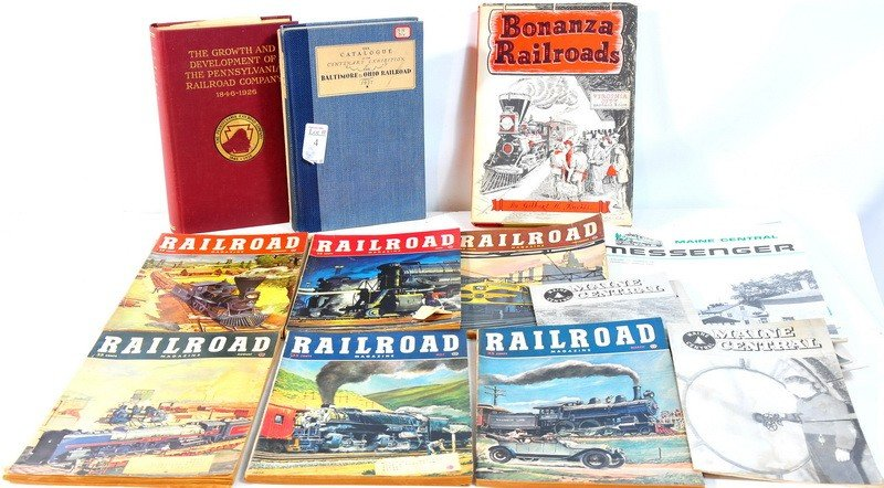 4: Lot of railroad books including Baltimore and Ohio r