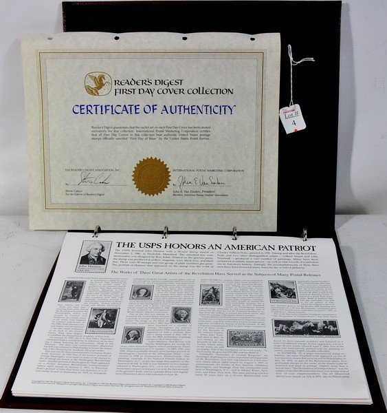 4A: Readers Digest First Day Cover Collection with Cert