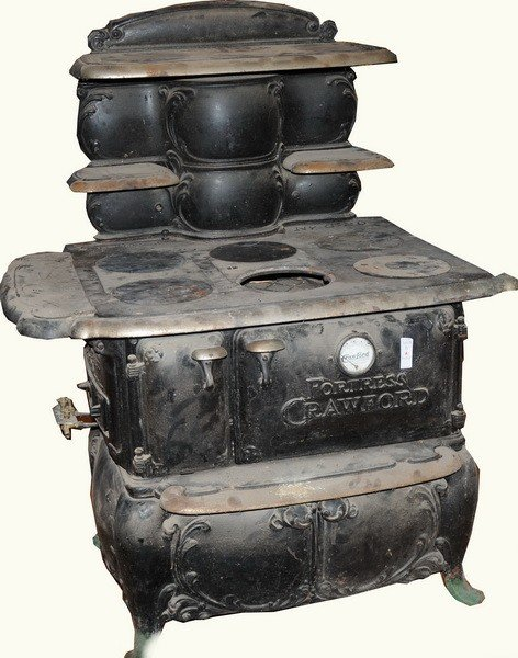 6A: black cast iron Fortress Crawford #8-20 Cookstove w