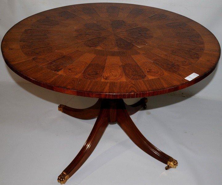 7: Round Mahogany Dining table Sheraton Style