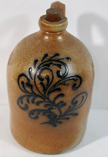 8A: Edwards & Co Decorated Jug with flaw on bottom