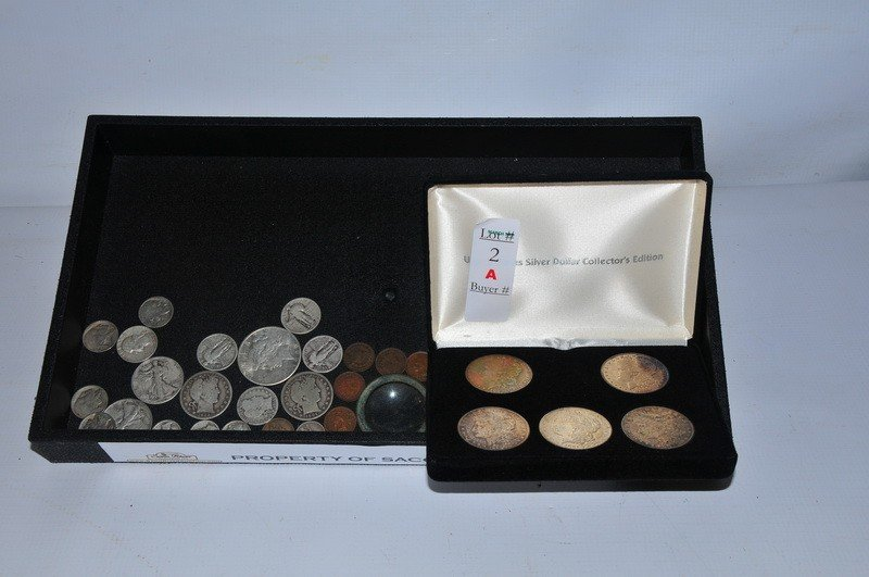 2A: Misc coins to include US Silver Dollar Collector's