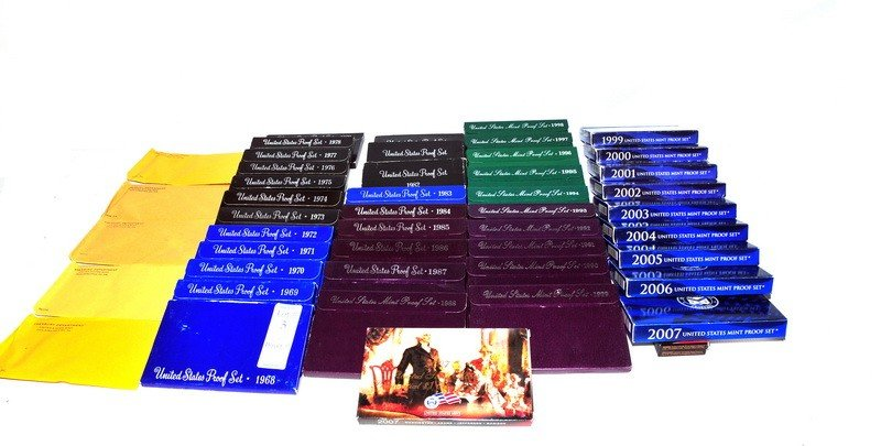 5: Complete run of proof sets from 1960-2007