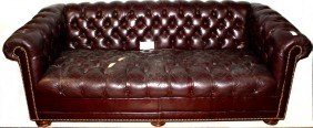 """77"""" Leather Couch"""