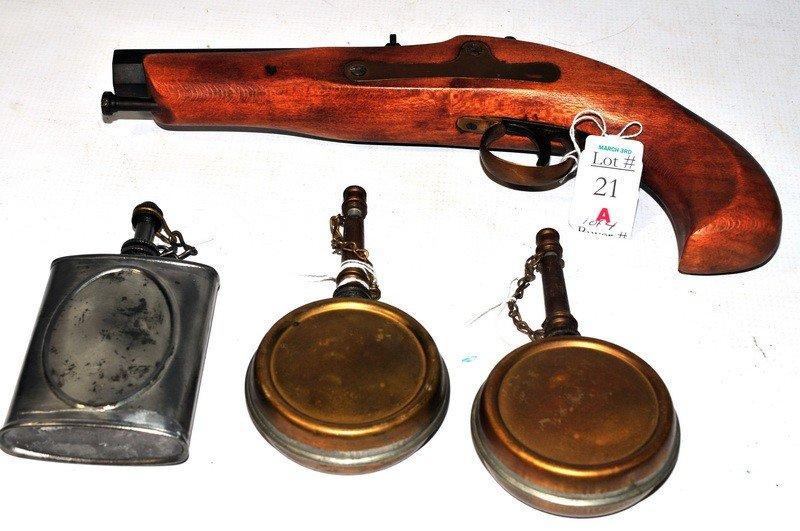 21A: Flintlock pistol and accessories