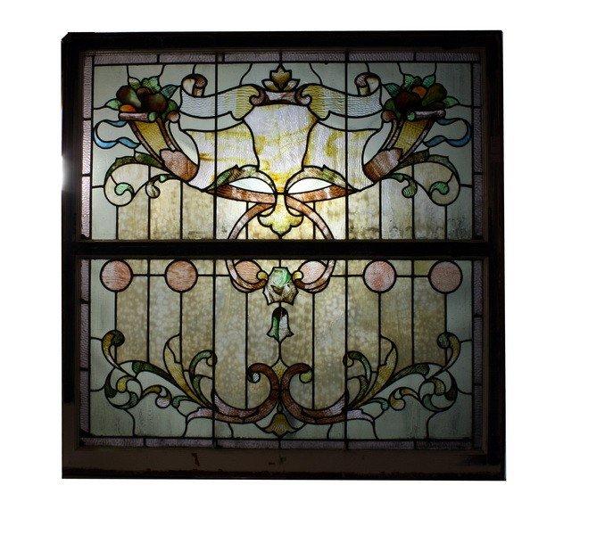 22: 46x46 Stained glass window