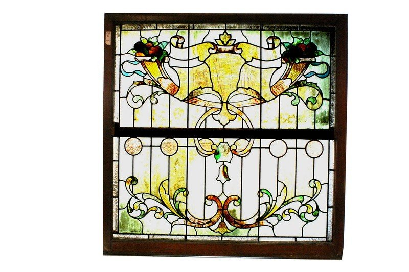 24: 46x46 Stained glass window