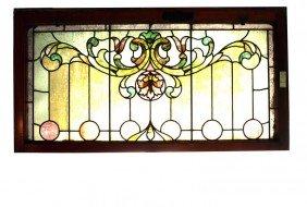 46x23 Stained Glass Window