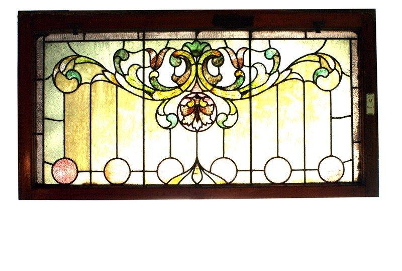 25: 46x23 Stained glass window