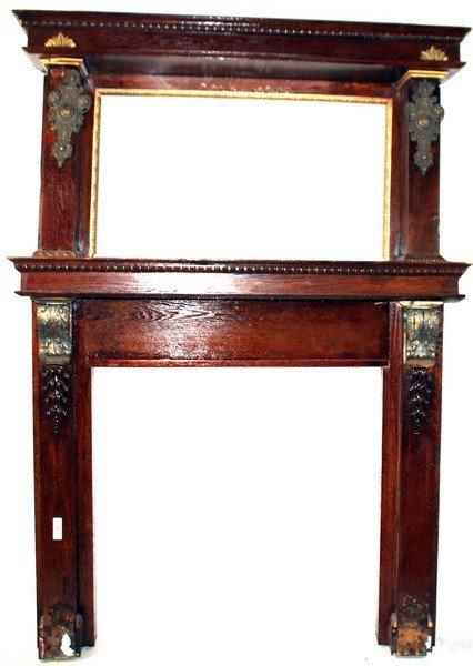 26A: Oak fireplace mantle/surround