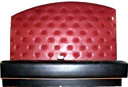 37A: Custom Made Leather bench with Button Tufted High