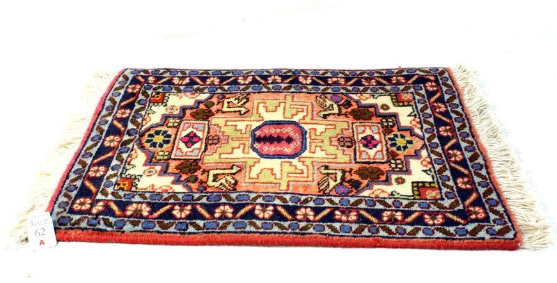 "62A: Ardabil Prayer rug 1'10""x1'3"""